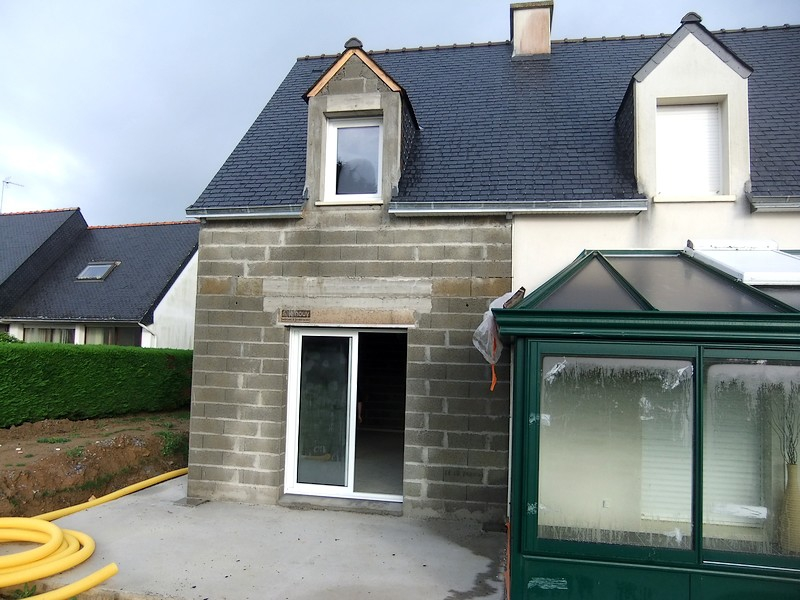 Extension bois agrandissement maison quimper finist re sud for Agrandissement maison en l